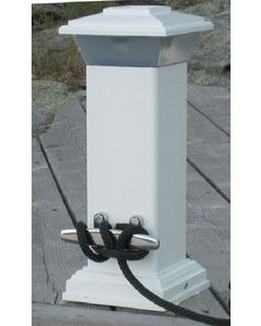 Dock Edge Solar Dock Light with Stainless Steel Mooring Cleat