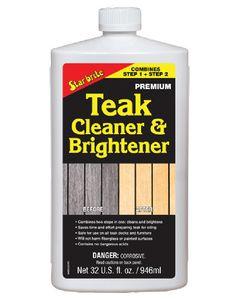 Starbrite One Step Teak Cleaner & Brightener, 32 oz.