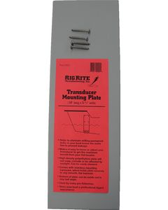 """Rig Rite 18.5""""Lx5.5""""W Vertical Transducer Mounting Plate,  Gray"""