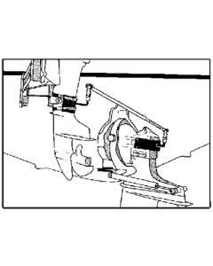 "Ez-steer E.Z.Steer Adjustable 23""-26"" Auxiliary Sterndrive Steering Kit for Mercruiser Alpha1"