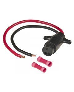 Sierra WH10530 Trolling Motor Connector Female Plug 8 gauge 2-Wire
