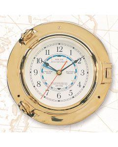 "High Shine Porthole Tide Clock, 9"""
