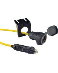 Hd 12V Extension Cord W/Usb - Hd 12V Extension Cord With Usb & Mounting Bracket