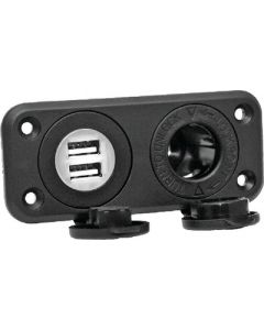 Prime Products Receptacle 12V W-Dual Usb
