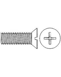 Handi-Man 8-32X1 Flat Head Phillips Metal Screws with Nuts, 6