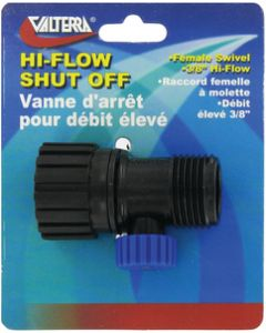 Valterra Hi Flow Shut Off Valve Card - Rv Hydroflush