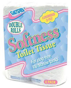 Valterra Rv Softness Dbl Rolls 2Ply 4Pk - Softness Double Rolls