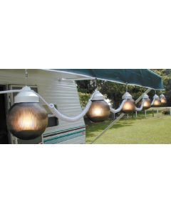 Polymer Products LLC Bronze Six Light String Set - Globe Lights