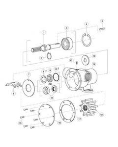 Jabsco Ac Motor Utility Pump Service Kit