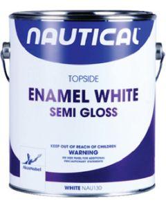 Interlux Nautical Topside Enamel, White Semi-Gloss Gal.