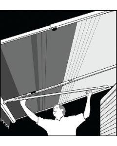 Rftr W/Center Suprt Black - Optima Tension Rafter System