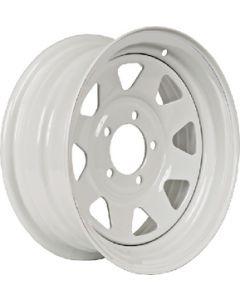 Steel Wheels, Eight Spoke, White w/o Stripes - Loadstar