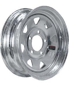 Loadstar Steel Spoke Trailer Wheel, 12x4JA, Galvanized, 4-4 20354