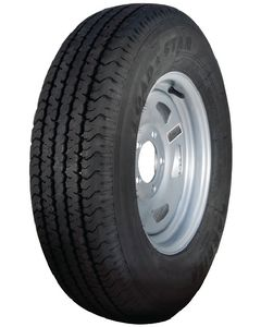 Loadstar Radial Tire and Wheel Assembly, ST185/80R-13, 5 Hole Directional Steel, Silver, C Ply