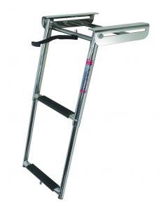 FOG & FOGS 2, 3, or 4 Step Transom Drop Ladders - JIF Marine Telescoping Boat Ladders