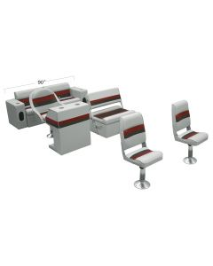 Wise WS13520 Deluxe Pontoon Fishing Boat Seats