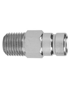 """Moeller 1/4"""" NPT Chrome Plated Brass, Engine Size to 90HP, Male Fuel Line Tank Connector for Honda"""
