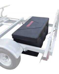 MegaSport Trailer Plastic Storage Trunk w/Mounting Hrdwr