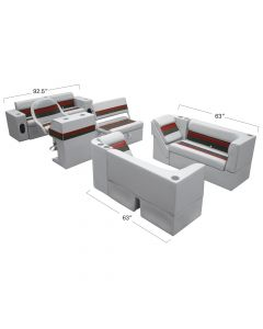 Wise WS13523 Deluxe Pontoon Series  Boat Seats - Large Traditional Group