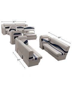 Wise WS14013 Premier Pontoon Traditional Seat Group