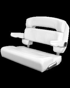 """Taco Marine 40"""" Capri Helm Bench chair Deluxe - Single Bolster, White"""