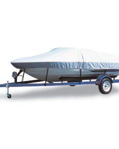 "Carver® Flex-Fit Boat Cover - Fits 19'-22' Centerline Length x 102"" Beam Width - Haze Gray Color"