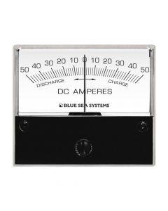 "Blue Sea 8252 DC Zero Center Analog Ammeter - 2-3/4"" Face, 50-0-50 Amperes DC"