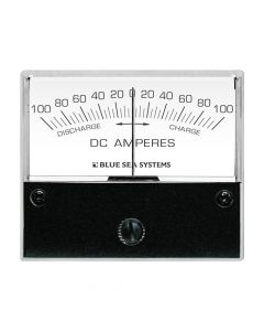 "Blue Sea Systems 8253 DC Zero Center Analog Ammeter, 2-3/4"" Face, 100-0-100 Amperes DC"
