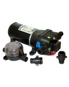 Flojet Quad Series Washdown System Pump with Nozzle & Strainer, 4.5 GPM
