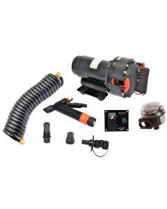 Johnson Pump Aqua Jet 5.2 GPH Washdown Pump Kit w/Hose 12V
