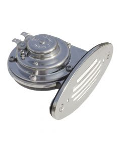 Ongaro Mini Single Drop-in Horn w/SS Grill - 12V Lo Pitch