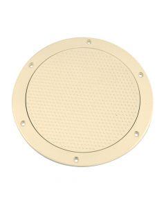 Beckson 6 Non-Skid Screw-Out Deck Plate - Beige
