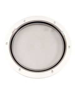 Beckson 8 Clear Center Pry-Out Deck Plate - White