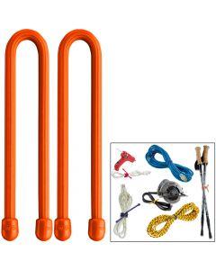 Nite Ize Gear Tie 12 - Bright Orange 2 Pack