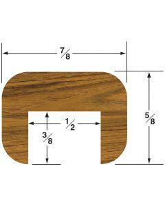 """Whitecap Cap Molding 5/8""""H x 7/8""""W, 5"""