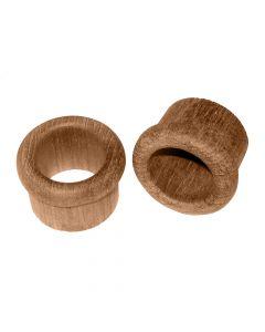 Whitecap Teak Finger Pull - 5/8 Barrel Length - 2 Pack
