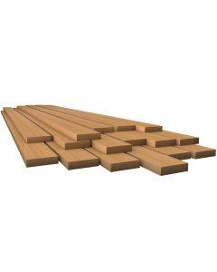 """Whitecap Teak Lumber - 7/8"""" x 3-3/4"""" x 3-7/8"""""""