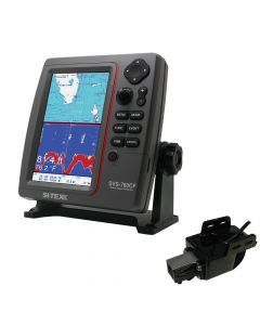 Si-Tex SVS-760CF Dual Frequency Chartplotter Sounder 600W Kit w/Transom Mount Triducer