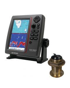 Si-Tex SVS-760CF Dual Frequency Chartplotter/Sounder 600W Kit w/Bronze 20 Degree Transducer