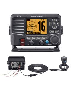 Icom M506 VHF Fixed Mount w/Rear Mic - Black