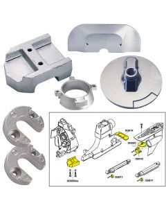 Tecnoseal Anode Kit w/Hardware - Mercury Alpha 1 Gen 2 - Zinc