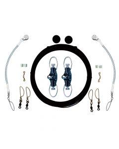 Rupp Marine Single Rigging Kit w/Nok-Outs - Black Mono 160' Lines