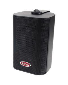 Boss Audio MR4.3B 4 3-Way Marine Enclosed System Box Speaker - 200W - Black