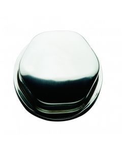 Ongaro Schmitt Faux Center Nut - Stainless Steel - 1/2&3/4 Base Included - For Cast Steering Wheels