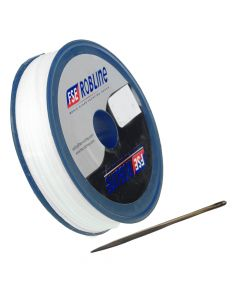 FSE Robline Waxed Tackle Yarn Whipping Twine Kit w/Needle - White - 0.8mm x 80M