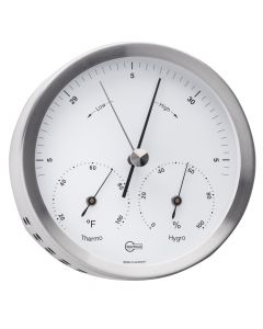 Barigo Steel Series Barometer/Thermometer/Hygrometer - Stainless Steel Housing - 4 Dial
