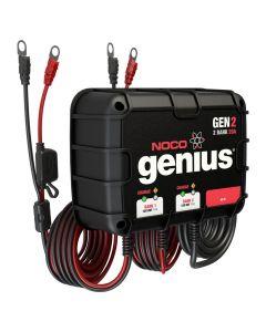 Noco Genius GEN2 20A Onboard Battery Charger - 2 Bank
