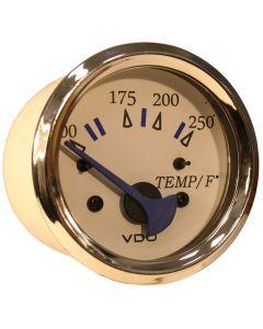 VDO Allentare White 250 F Water Temperature Gauge - Use w/Marine 450-29 Ohm Sender - 12V