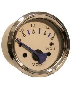 VDO Allentare White Voltmeter - 8-16V