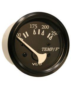 VDO Allentare Black 250 F Water Temperature Gauge - Use w/Marine 450-29 Ohm Sender - 12V - Black Bezel